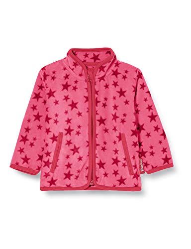 Playshoes Baby-Mädchen Fleecejacke Sterne Jacke, Rosa (Pink 18), 92