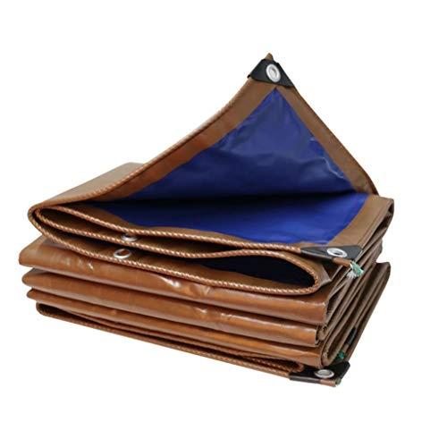FJDEYB Reversible Blau/Braun Tarp Mit Tüllen, 500GSM Heavy Duty Wasserdicht Wetterfest Abdeckplane for RV Patios Garten, Rip Und Weiterreißfestigkeit (Size : 2mx2m/6ftx6ft)