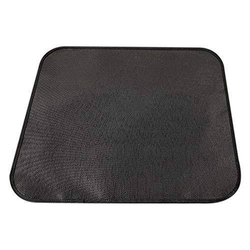 Rubyu-123 Feuerfester Teppich, Mehrschichtige Feuerfeste Matte, Hitzebeständige Hitzeschutzplatte, Quadrat Bodenschutz für Ofen, Kamin und Grill, Schwarz