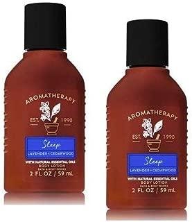 Bath and Body Works 2 Pack Aromatherapy Sleep Lavender & Cedarwood Travel Size Set. Body Lotion 2 Oz