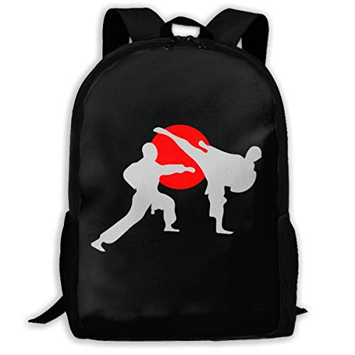 Reiserucksack,Schultaschen Schule Mochilas Tipo Casual Backpack for Men Women Two Karate Fighter Backpacks Hiking Laptop Backpack Travel Large Shoulder Bags for School Shopping Outdoor Sports Outdoor
