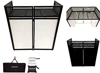 DJ Event Facade White/Black Scrim Metal Frame Booth + 20  x 40  Flat Table Top Includes Both White and Black Panels + Carrying Cases!
