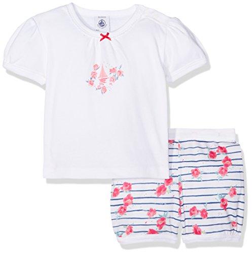 Petit Bateau Febra Ensemble de Pyjama, Multicolore (Ecume/Major/Multico R16), 0-3 Mois Bébé Fille