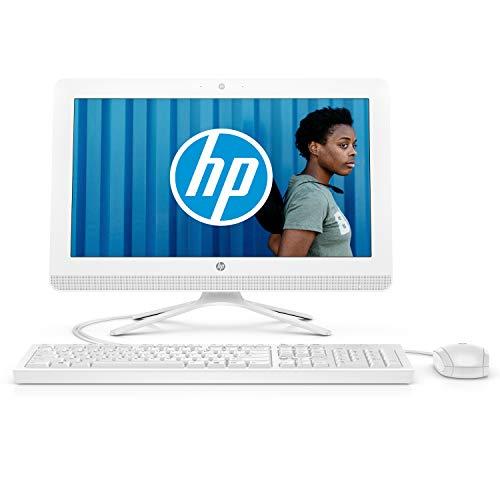 HP 20c434nf Ordinateur Toutenun 19,5'' FHD Blanc (Intel Celeron, 4 Go de RAM, 1 To de Stockage, Windows 10)