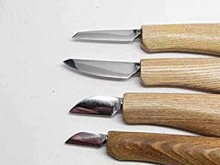 4 Deepwoods Woodcarving Tools Knives Detail Roughout String Bean Caricature