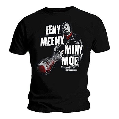 T-shirt officiel The Walking Dead Zombie Negan Eeny AM - Noir - XX-Large