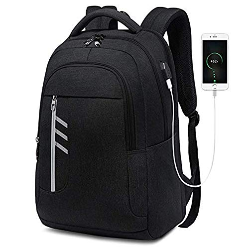 MMWYC Laptop Backpack with 15.6' Laptop Compartment USB/Headphones Charging Port Backpack Men's Student/Business, College Or Work Backpack (Color : Light Gray)