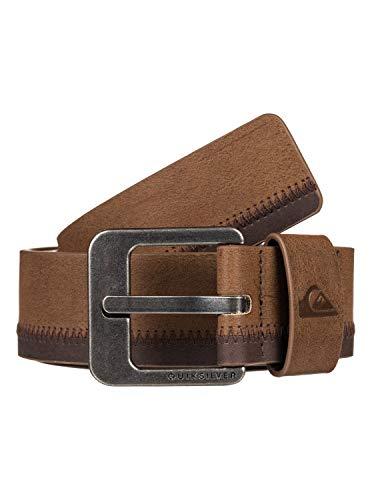 Quiksilver - Cinturón de Cuero Sintético - Hombre - M-34 - Marrón