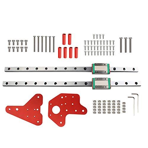 Ixkbiced 1 Set Kit di Guide lineari MGN12H a Doppio ASSE Z per Stampante 3D Creality Ender-3 / 3S / PRO