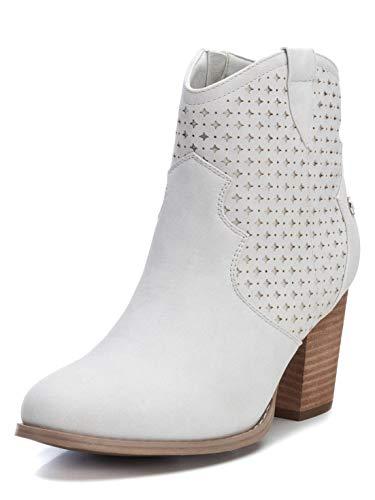 XTI Damen 49896 Kurzschaft Stiefel, Weiß (Hielo Hielo), 40 EU