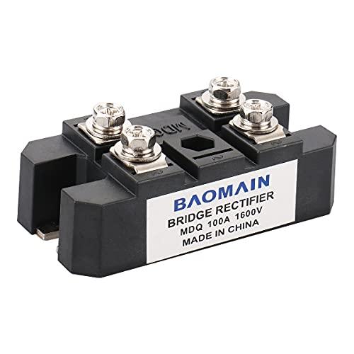 Baomain Bridge Rectifier MDQ-100A 100A 1600V Full Wave Diode Module One Phase