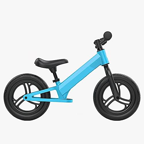 YMDA Balance Bike, Height-Adjustable Handlebars and Seat Child Training Bike, 12-Inch Aluminum Alloy Frame Bearing, Light Riding