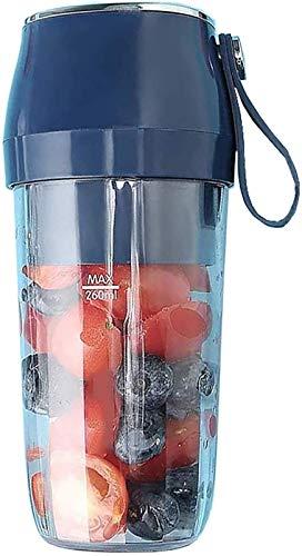 LITINGT Taza Exprimidora Portátil, Hogar Multifuncional Fruta Pequeño Exprimidor Eléctrico Recargable Seguro y de Bajo Ruido Carga Móvil (Color: Azul) (Color: Azul)