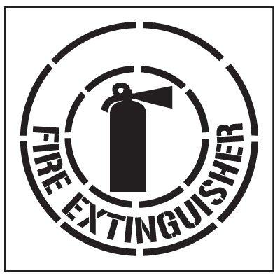 Stencil- FIRE Extinguisher / 24' Image