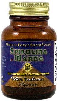 HEALTHFORCE SUPERFOODS Spirulina Manna Powder, Trial Size, 20 g