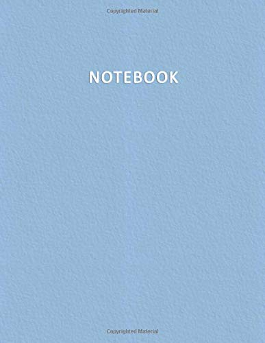 Notebook: Quaderno per appunti con 100 pagine bianche e numerate – Elegante e Moderno color pastello nella tonalità Azzurro Bebè – Misura A4 – Diario, Doddles, Schizzi, Disegni, Note, Memorie