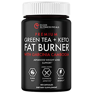 Green Tea Extract Supplement with Keto Pills EGCG - Belly Fat Pills That Work - 1200mg Capsules - Slim Stomach & Abdominal - Natural & Keto Diet Friendly Supplement for Men & Women 60 Veggie Capsules
