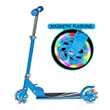 Tenboom Kick Scooters for Kids 5-13 Years Old, 2 Flashing Wheels Folding Scooter for Girls Boys, 3 Adjustable Height, CPSC Certified
