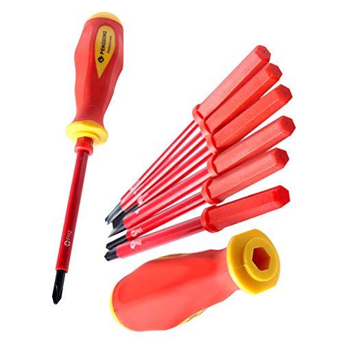 Juego De Destornilladores Con Aislamiento Eléctrico 1000v Phillips Wera Juegos De Destornilladores De Precisión Jefe Electricista Reparación 7pcs Tool Kit
