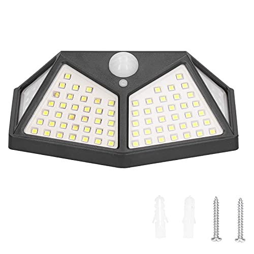 GAESHOW Luces solares IPX65 a Prueba de Agua 3 Modos de iluminación Lámpara de Pared Solar de inducción del Cuerpo Humano para Pasillo de jardín