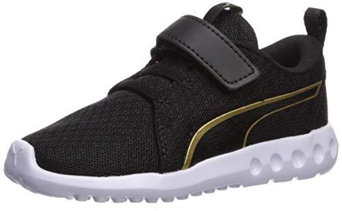 PUMA Baby Carson 2 Velcro Sneaker, Black-Gold, 8 M US Toddler