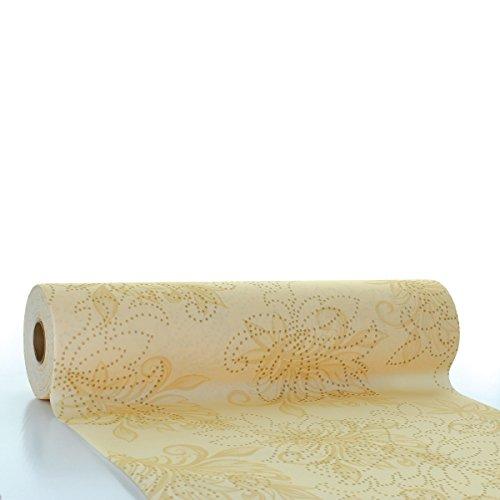 Boxie HORECA tafelloper Camilla | Linclass® Airlaid tafelloper 40 cm x 24 m | tafelkleden op rol stofachtig | eenmalig tafelkleed voor bruiloft en feestjes | crème