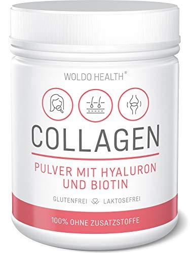 Kollagen Pulver mit Hyaluronsäure und Biotin 500g - geschmacksneutral & wasserlöslich