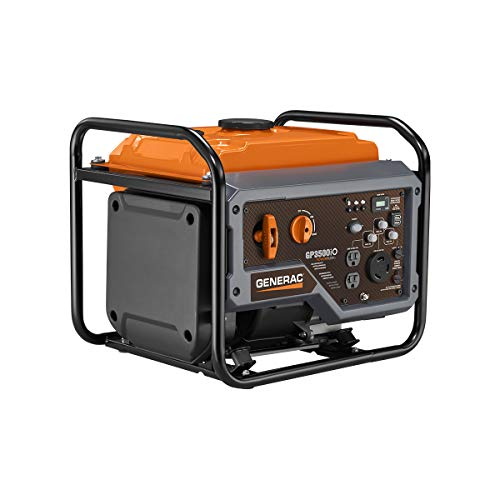 Generac GP3500iO Open Frame RV Ready Inverter Generator - 3500 Starting Watts with PowerRush Technology
