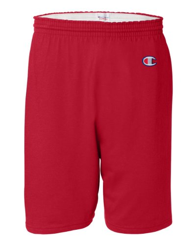 Champion Men's 6-Inch Scarlet Cotton Jersey Shorts - Large