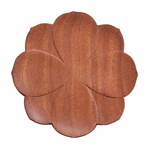 Posavasos para bebidas, natural, respetuoso con el medio ambiente, duradero, resistente al calor, material de madera de loto, para tipos de tazas, posavasos de té, juego de posavasos de madera lavable
