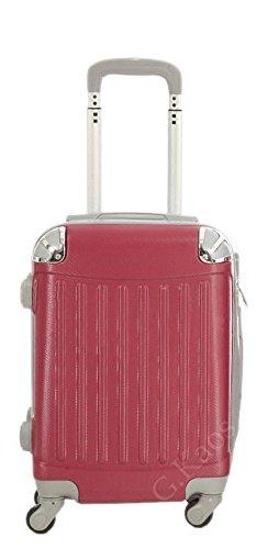 Trolley da cabina 52 cm valigia rigida in ABS policarbonato antigraffio e impermeabile per voli lowcost Easyjet Rayanair art. 2022 (Rosso)