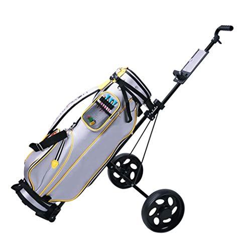Vifucz Golf Push Cart, Golf Push Carts 2 Wheel Folding, Golf Pull Cart with Scorecard and Drink Holder, Fodable Golf Trolley for Golf Bag, Push Cart for Golf Clubs Men Women (C-2 Wheel cart)
