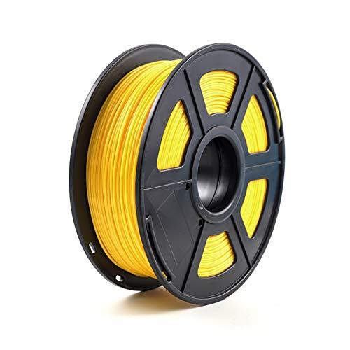 YANGDONG 3D-Druckerfilament-PETG, 1,75mm 1kg / 2.2 £, Kunststoff-Filament-Verbrauchsmaterial PETG-Material, Für 3D-Drucker (Color : Yellow)