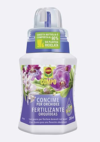 Compo Concime Liquido per Orchidee, Fertilizzante Organo-Minerale con Guano, 250 ml