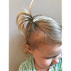 Kitsch Mini Spiral Hair ties, Coil Hair Ties, Phone Cord Hair Ties, Hair Coils - 8 Pcs, Transparent