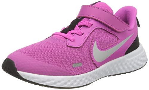 Nike Revolution 5 (PSV), Walking Shoe, Active Fuchsia Mtlc Silver Black, 33 EU