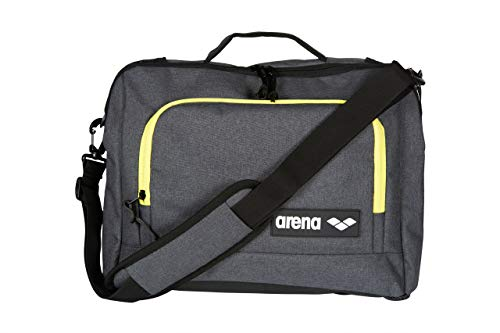 Arena Team Coach Briefcase Laptop Shoulder Bag, Grey Melange