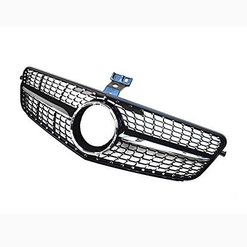 Super1Six Rejillas Centrales Clase C Aptas para Mercedes-Benz W204 C180 C200 C300 C250 C350 2007-2014 Rejilla De Diamante Brillante,Diamond Black