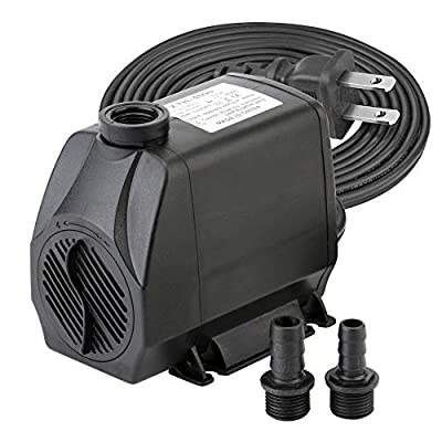 Minerva 1050 GPH Submersible Water Pumps for Aquarium, Tabletop Fountains, Pond, Water Gardens and Hydroponic Systems with 2 Nozzles, CE-ROHS Approved, 5.9 ft(1.8m) Power Cord,4000 L/H, 100W