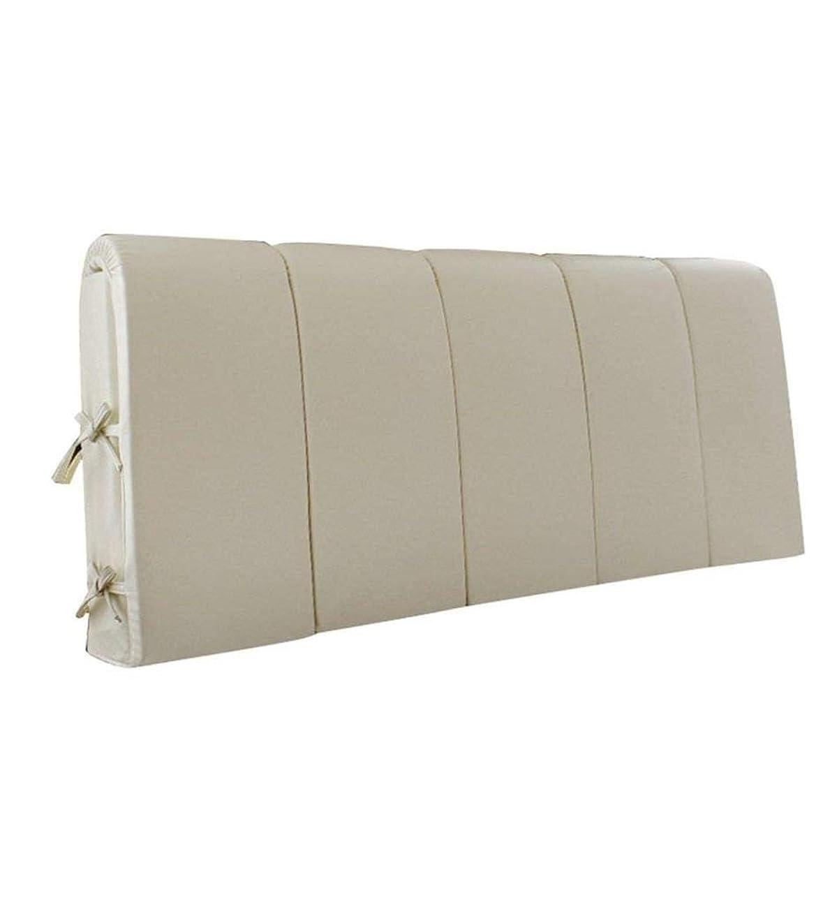 単調な干渉する考慮畳ベッドヘッドクッション壁に直接衝突防止ソフトバッグダブルいいえベッドヘッドクッション洗える生地背もたれ(200×4×60 cm)
