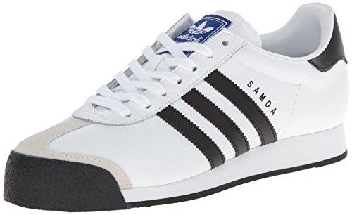 adidas Originals Samoa Retro Tenis para Correr, Blanco/Negro, para Hombre 10.5, para Mujer 11.5 Mediano