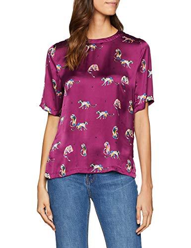 Garcia Damen V80231 T-Shirt, Violett (Plum Caspia 3201), X-Large