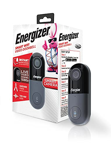 Energizer Connect 1080p Wired Video Doorbell, Home Security |Requires...