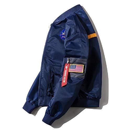 SKJJ Herren Jacke mit vertikalem Kragen Gr. X-Large, dunkelblau