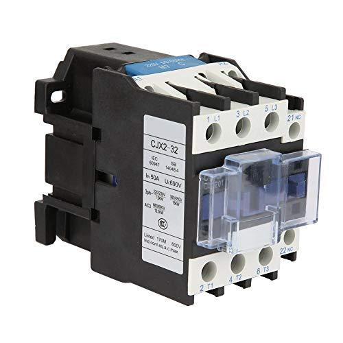 CJX2-3201 Contactor eléctrico de CA, 220V 32A Contactor eléctrico industrial de CA de alta sensibilidad normalmente cerrado