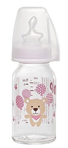 nip 38575-54 - Botella de cristal estándar (125 ml, 125 ml), color rosa