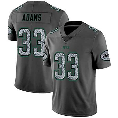 Rugby Camiseta de fútbol Jersey Jets 33# Adams Camisa de la Camiseta de Entrenamiento Deportivo al Aire Libre de Manga Corta Deportes Top Polo de los Hombres de (tamaño : X-Large)