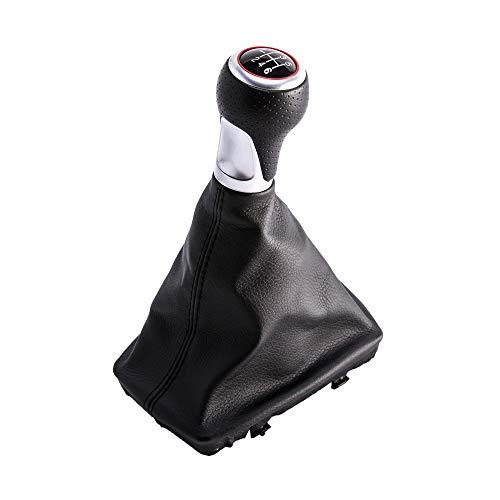SFONIA 6 Velocidades Coche Pomo Palanca de Cambios Stick Head Shifter Cubierta de Polvo A4 S4 B8 8K/ A5 8T Q5 8R S-Line (2007-2015)