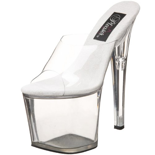 Pleaser Women's Taboo-701 Clear Size: 5 UK