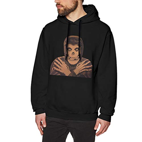 Misfits Collection Men Long Sleeve Sweatshirt Classic Hoodie Sweater Black